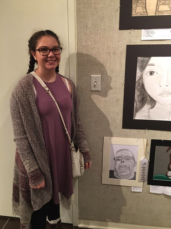 Third Place: Mercedes Maupin - Drawing