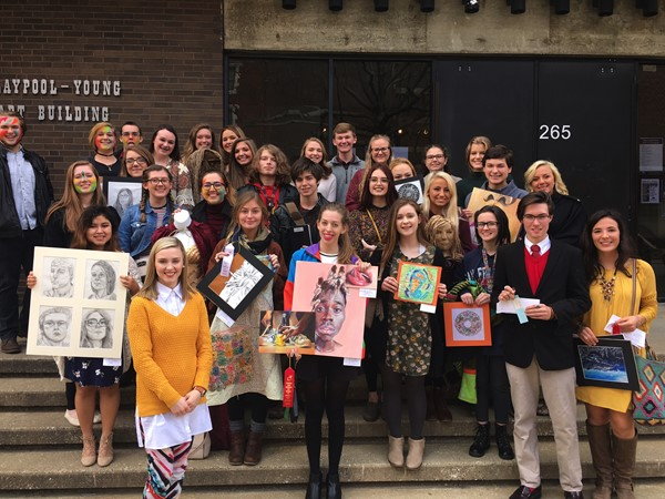 RHS students at Morehead State University for the Regional Art Show. Teacher: Tiffany Botts-Perry